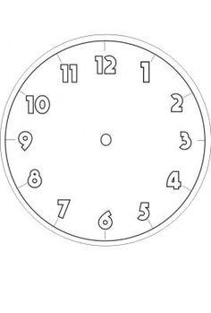 Uhr Vorlage Zum Ausdrucken Allgemeng Bastelen Kindergarten