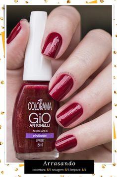 Veja as cores da coleção Colorama Gio Antonelli nas unhas!