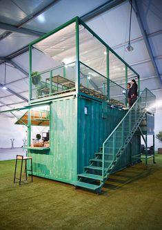 Container Coffee Shop, Container Restaurant, Container Shop, Container House Design, Cafe Shop Design, Coffee Shop Interior Design, Coffee Design, Outdoor Restaurant Design, Pop Up Cafe