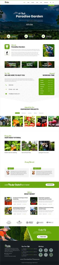 QParadise is clean and modern design 8in1 responsive #WordPress theme for #gardening, #landscaping and lawn services website download now..