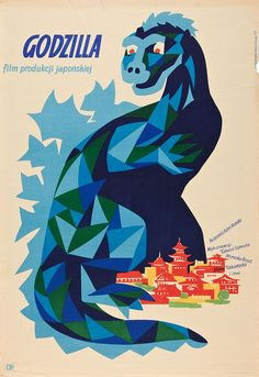 Godzilla (Poland, 1957) - classic Japanese monster movie posters from Poland