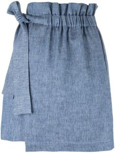 MSGM elasticated waistband detail skirt. #msgm #cloth #skirt