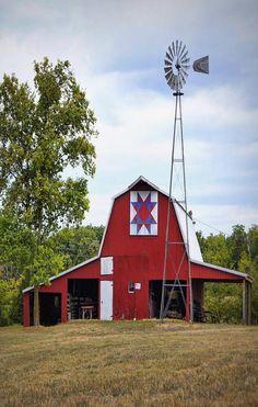 Barn & Windmill