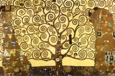 The Tree of Life     Artist Gustav Klimt (1862-1918) was a forerunner of Modernism and the Art Deco movements, helping to pioneer the Viennese Secession and Art Nouveau movements. Modern art and jewelry are still profoundly influenced by his innovative style.