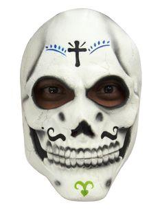 Skelette Maske Dìa de los muertos für Erwachsene - Hand bemalt: DieseLatexmaskeist für Erwachsene undHand bemalt.Dies macht sie zu einemechtenQualitätsprodukt!Die Maske ist weiß mit schwarzen Details zum...