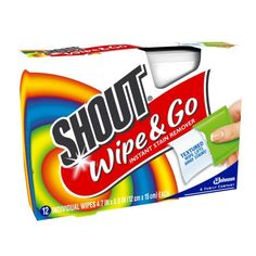 Shout Wipe & Go Wipes 12 count $2.96
