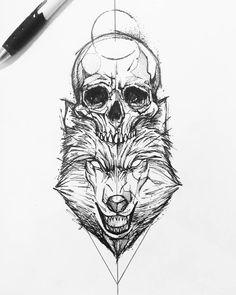 new tattoo Makeup Ideas makeup advertisement ideas Wolf Tattoo Design, Skull Tattoo Design, Tattoo Sleeve Designs, Sleeve Tattoos, Tattoos 3d, Skull Tattoos, Body Art Tattoos, Tattos, Norse Tattoo