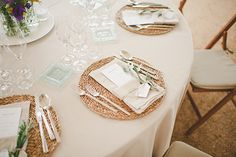 Wicker place mats and olive tree settings for Carolina and Tati's relaxed Spanish village wedding with olive branch inspired elegant rustic charm // The Natural Wedding Company Wedding Table Planner, Wedding Menu, Rustic Wedding, Wedding Planners, Wedding Bells, Wedding Stuff, Dream Wedding, Wedding Ideas, Rustic Charm