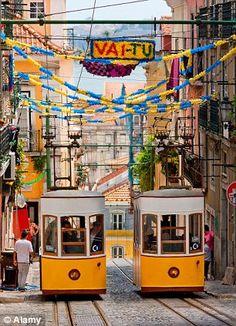 Trams in Barrio Alto ~ Lisbon, Portugal