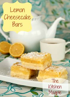 Holiday Cheesecake Lemon Bars | @Karlyn Nelson Johnston: The Kitchen Magpie #christmas