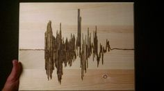"This is my sound waves saying, ""I love you,"" that I burned into this wood piece to be made into a wall piece of some sort. #HomeDecor #WoodBurning #Pyrography #SoundWave #Anniversary #Art #Wood #Fire #I #Love #You"