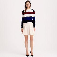 J.Crew - Box pleat skirt in crepe