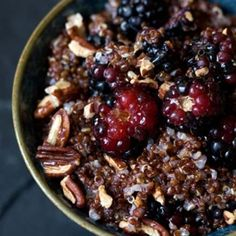 """Warm and Nutty Cinnamon Quinoa Recipe. Trying to eat more healthy """"grains"""" like quinoa – actually a seed – and this looks like a delicious breakfast. Best Quinoa Recipes, Vegetarian Recipes, Cooking Recipes, Healthy Recipes, Vegan Meals, Vegan Food, Yummy Recipes, Free Recipes, Cooking Tips"""