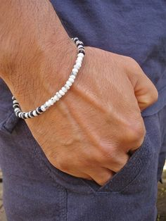 Men's Spiritual Good Fortune Bracelet with Semi by tocijewelry, $42.00