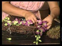 Ботаника. Гнездо с орхидеями