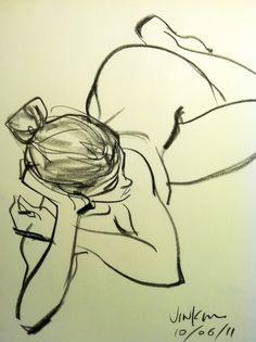 Love this style...a study in lines...Jin Kim, life drawing. Nice!