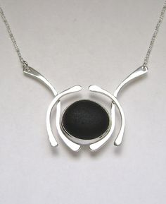 Sea Glass Jewelry  Sterling Rare Black English by SignetureLine, $150.00