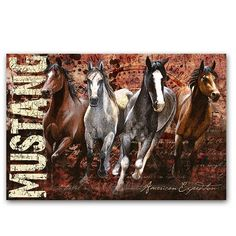 'Mustang' Graphic Art on Wrapped Canvas