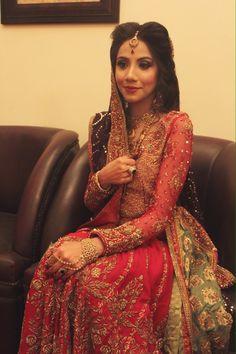 Anum Ahmed on her wedding day in a custom Tena Durrani Fire and Ice Lehnga Choli. For more details email info@tenadurrani.com