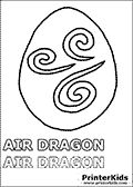 Dragonvale - Air Dragon - Adult - Coloring Page   Snack Ideas ...