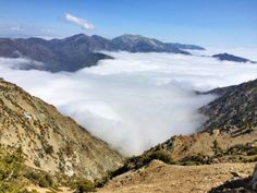 View from the PCT near the top of Mt. Baden-Powell