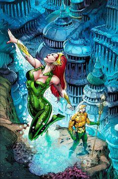 Aquaman & Mera By Paul Pelletier