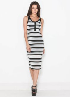 #LBH, you'll never *stripe* out with a chic dress like this on your bod.