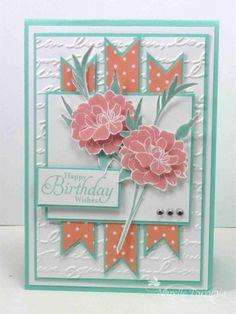 Stampin' Up! stamp set Fabulous Florets, Pretty Print embossing  folder