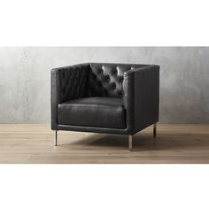 savile leather chair ❤ liked on Polyvore featuring home, furniture, chairs, black chair, black leather chair, black leather furniture, leather furniture and leather chair