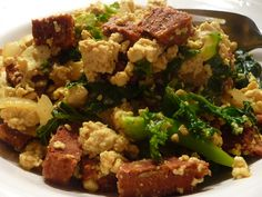 Chorizo Tofu Scramble: sounds really good, but some of the ingredients are Indian and would be difficult to get where I live