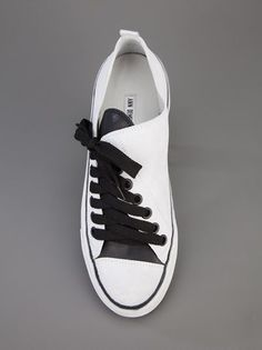 Something about this quirky shoe I love -ANN DEMEULEMEESTER BLANCHE - asymmetric sneaker