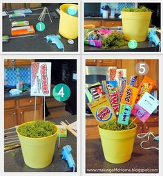 Make your very own birthday basket it is a cool and easy thing to make fill it with whateva you would like