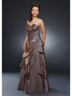 2012 trägerloses elgantes Cocktailkleid mit mehrlagigem Rock