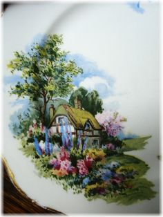 Pretty Little Plate Cottage Scene by Royal Vale by sweetmeadowstwo