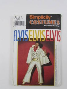 Elvis Presley, Adult Size, Vintage Simplicity 8651 - Uncut, OOP by NeedleandFootSews on Etsy