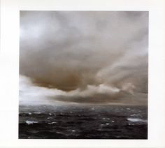 Gerhard Richter Seascape (with clouds) Gerhard Richter, Seascape Paintings, Landscape Paintings, Tornados, Antique Illustration, Eye Art, Street Art, Pictures To Draw, Contemporary Paintings