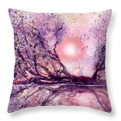 Sunset Swamp Throw Pillow featuring the painting Sunset Swamp by Sabina Von Arx Pillow Inserts, Pillow Covers, American Crocodile, Creative Colour, Pillow Sale, Season Colors, Basic Colors, Poplin Fabric, Color Show