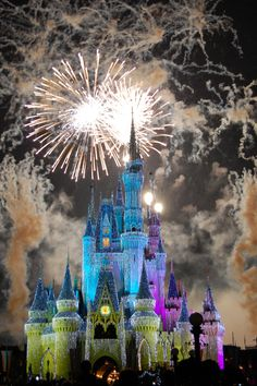 """Cinderella's Castle - Magic Kingdom"" by fisherbray on Flickr - This is the Wishes Nighttime Spectacular and Cinderella's Castle at Walt Disney World's Magic Kingdom."