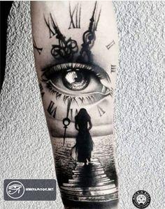 83 hình xăm đồng hồ đẹp đẳng cấp cho nam giới ở cánh tay, vai, chân - Album 999+ hình xăm độc đáo lạ mắt nhất thế giới cho nam và nữ