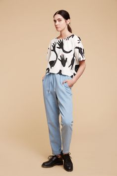 Trousers, Waves, Normcore, Feminine, Stylists, Finland, Blouse, Collection, Black