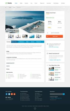 Travel Agency - Multipurpose Booking PSD Template on Behance