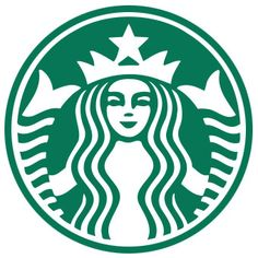 1) Symmetry. The logo is symmetric, gives a great balance. 2) Closure. Individual shapes are arranged in such a way that the mermaid's outline can be perceived.