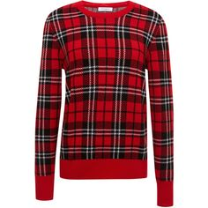 Equipment Scholarly Plaid Jacquard Shane Crew ($268) ❤ liked on Polyvore featuring tops, sweaters, crew-neck tops, crew sweater, crew neck tops, jacquard top and equipment sweaters