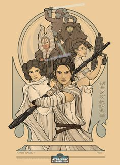 """Limited Edition Star Wars Celebration 2016 Europe Exclusive Print - """"Strength"""""""