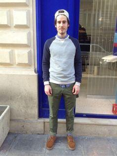 ASOS Pull, Sweat -  CARHARTT Jean -  NIKE Derbies, mocassins, bateau    #men #mode #look #streetstyle http://www.moodlook.com/look/2014-03-12-france-paris-8
