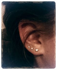 Triple piercing...this is all I want..maybe 4..