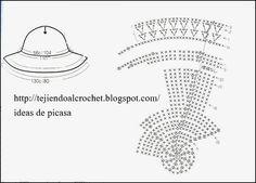 TEJIDOS A CROCHET - GANCHILLO - PATRONES: CAPELINA , GORRITO CON ...
