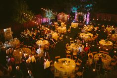 This is how I want the lights for my wedding! Elegant Backyard Wedding - Rustic Wedding Chic