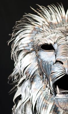 Head of the lion. metal lion sculpture. ASLAN