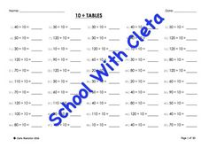 Simple Division By Two Mental Maths / Drill Worksheets / Booklet Mental Maths Worksheets, Math Drills, Times Tables, Multiplication, Division, Booklet, Homeschooling, Real Life, Confidence